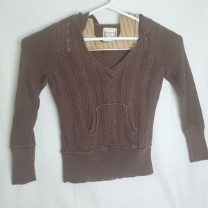Ruff Hewn Brown Hoodie Long Sleeves Sweatshirt M